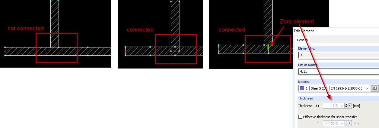 Zero elementen verbinden profielen in SHAPE-THIN